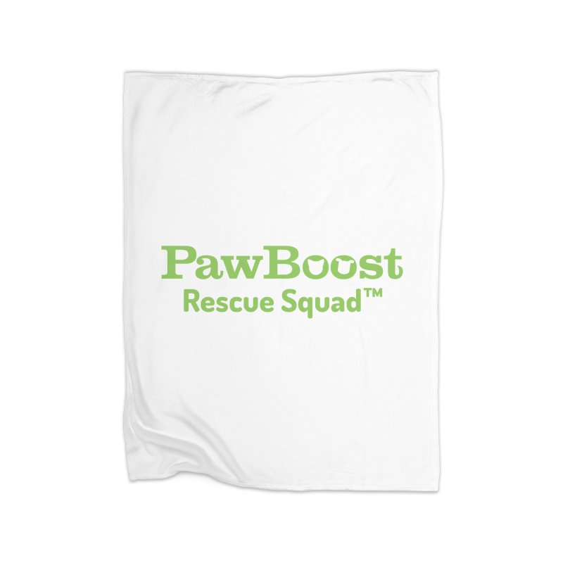 Rescue Squad Home Fleece Blanket Blanket by PawBoost's Shop