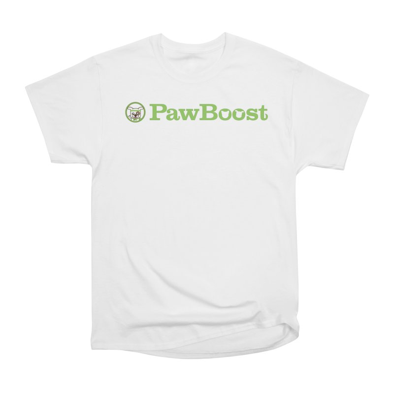 PawBoost in Women's Heavyweight Unisex T-Shirt White by PawBoost's Shop