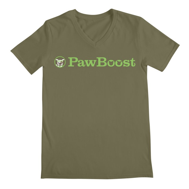 PawBoost Men's Regular V-Neck by PawBoost's Shop