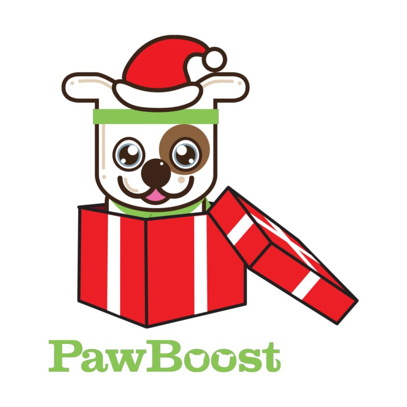Happy Howlidays! (dog) Accessories Face Mask by PawBoost's Shop