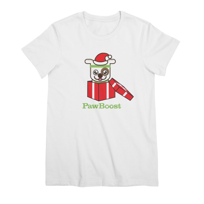 Happy Howlidays! (dog) Women's Premium T-Shirt by PawBoost's Shop