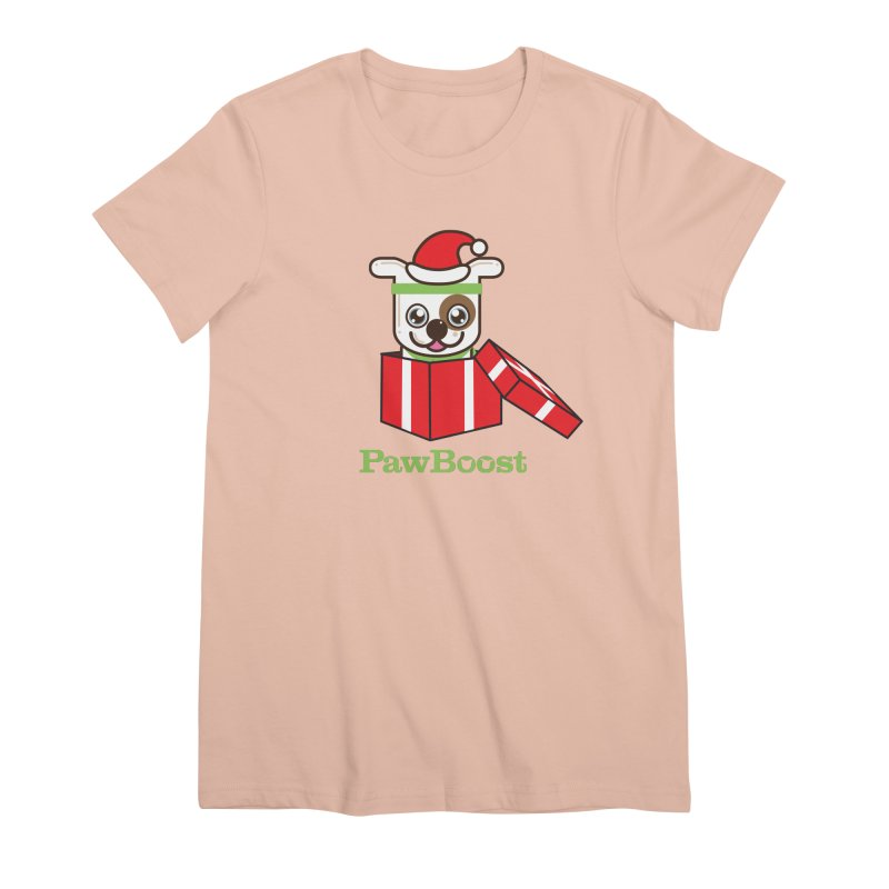 Happy Howlidays! (dog) Women's Premium T-Shirt by PawBoost's Shop