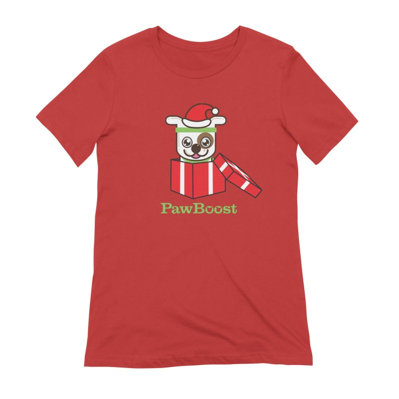 Happy Howlidays! (dog) Women's Extra Soft T-Shirt by PawBoost's Shop