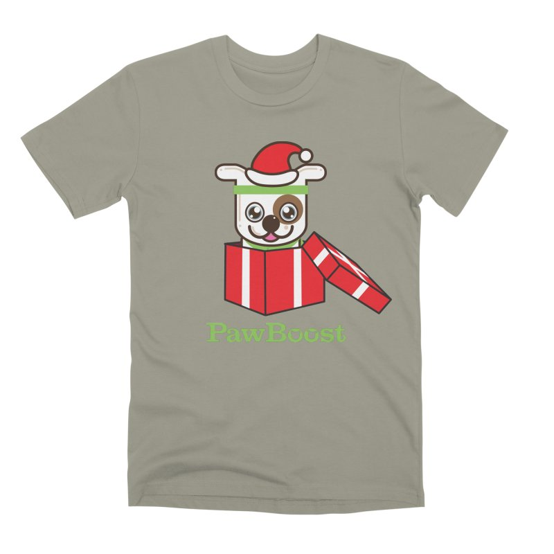 Happy Howlidays! (dog) Men's Premium T-Shirt by PawBoost's Shop