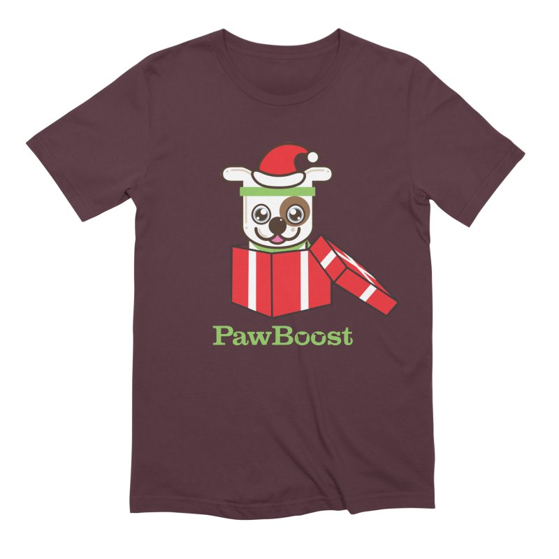 Happy Howlidays! (dog) Men's Extra Soft T-Shirt by PawBoost's Shop
