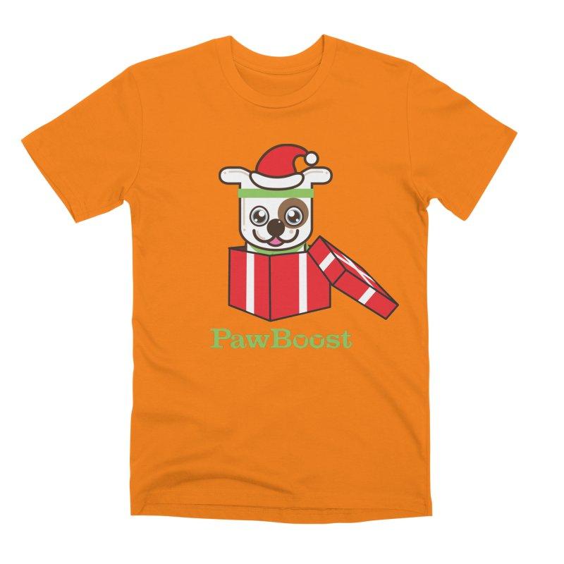 Happy Howlidays! (dog) Men's Premium T-Shirt by PawBoost's Shop