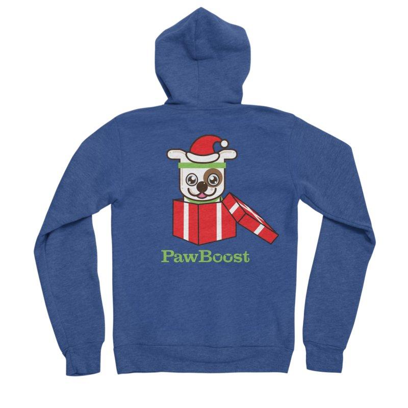 Happy Howlidays! (dog) Women's Sponge Fleece Zip-Up Hoody by PawBoost's Shop