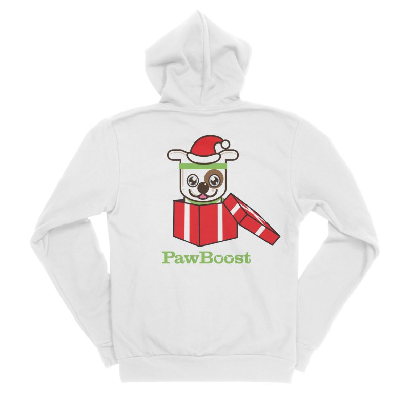 Happy Howlidays! (dog) Women's Sponge Fleece Zip-Up Hoody by PawBoost's Shop