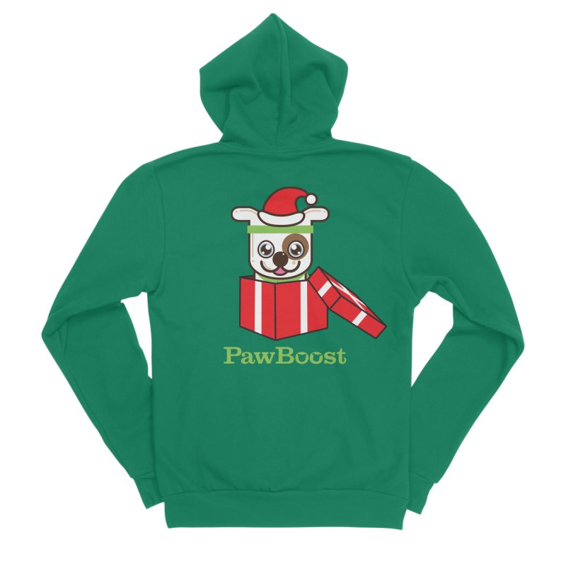 Happy Howlidays! (dog) Men's Sponge Fleece Zip-Up Hoody by PawBoost's Shop