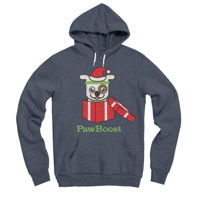 Happy Howlidays! (dog) Men's Sponge Fleece Pullover Hoody by PawBoost's Shop