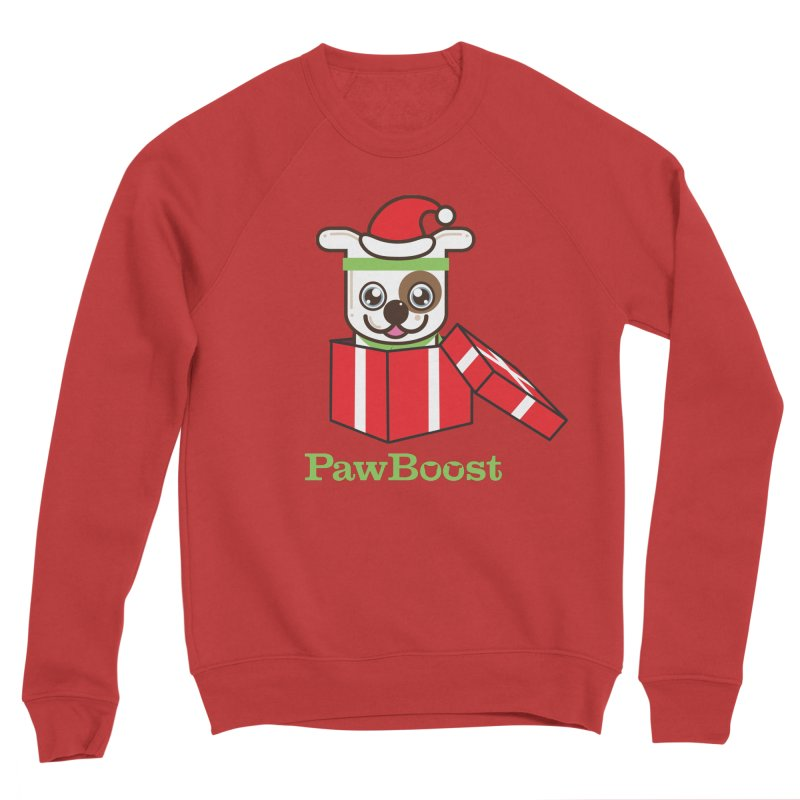 Happy Howlidays! (dog) Women's Sponge Fleece Sweatshirt by PawBoost's Shop