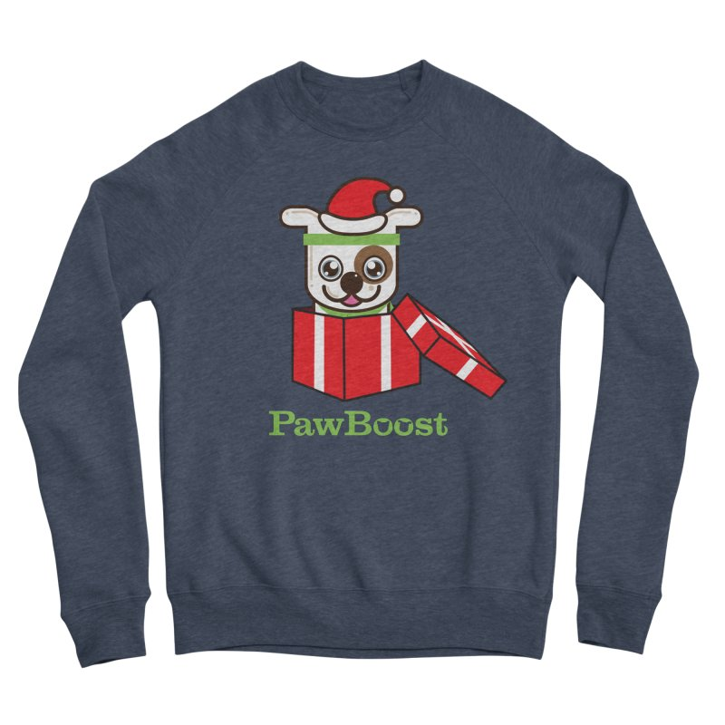 Happy Howlidays! (dog) Men's Sponge Fleece Sweatshirt by PawBoost's Shop