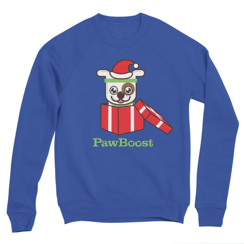 Happy Howlidays! (dog) Women's Sponge Fleece Sweatshirt by PawBoost's Shop