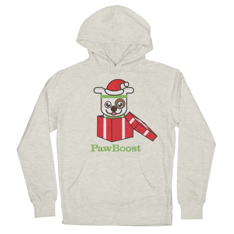 Happy Howlidays! (dog) Women's French Terry Pullover Hoody by PawBoost's Shop