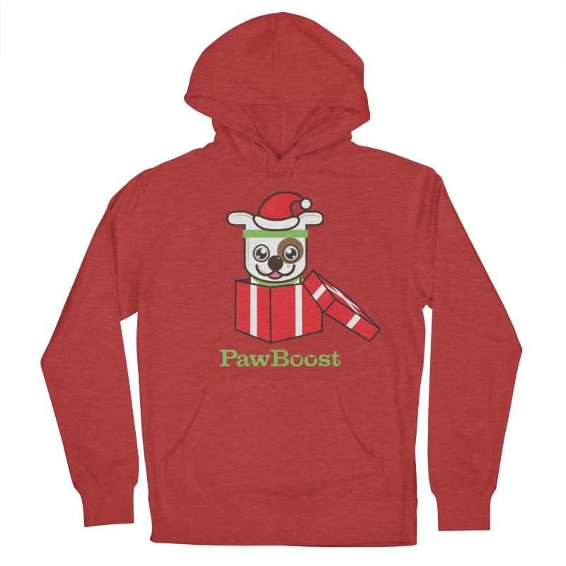 Happy Howlidays! (dog) Men's French Terry Pullover Hoody by PawBoost's Shop