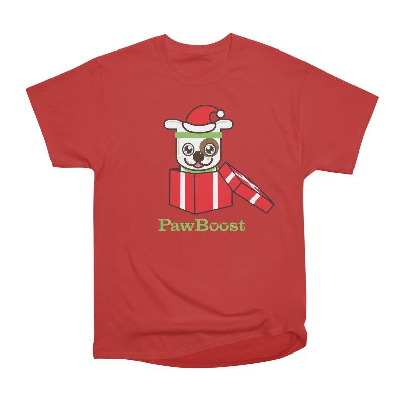 Happy Howlidays! (dog) Women's Heavyweight Unisex T-Shirt by PawBoost's Shop