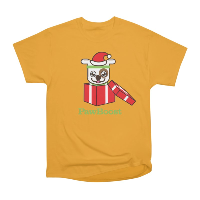 Happy Howlidays! (dog) Men's Heavyweight T-Shirt by PawBoost's Shop