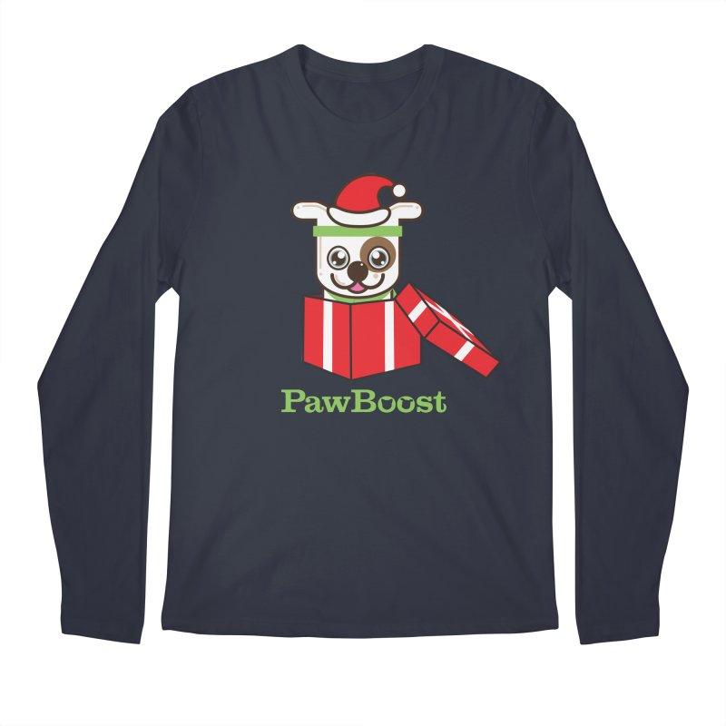 Happy Howlidays! (dog) Men's Regular Longsleeve T-Shirt by PawBoost's Shop
