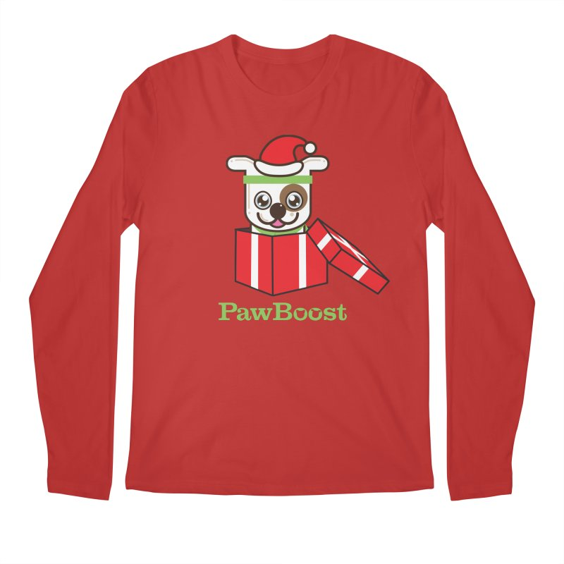 Happy Howlidays! (dog) Men's Regular Longsleeve T-Shirt by PawBoost's Shop
