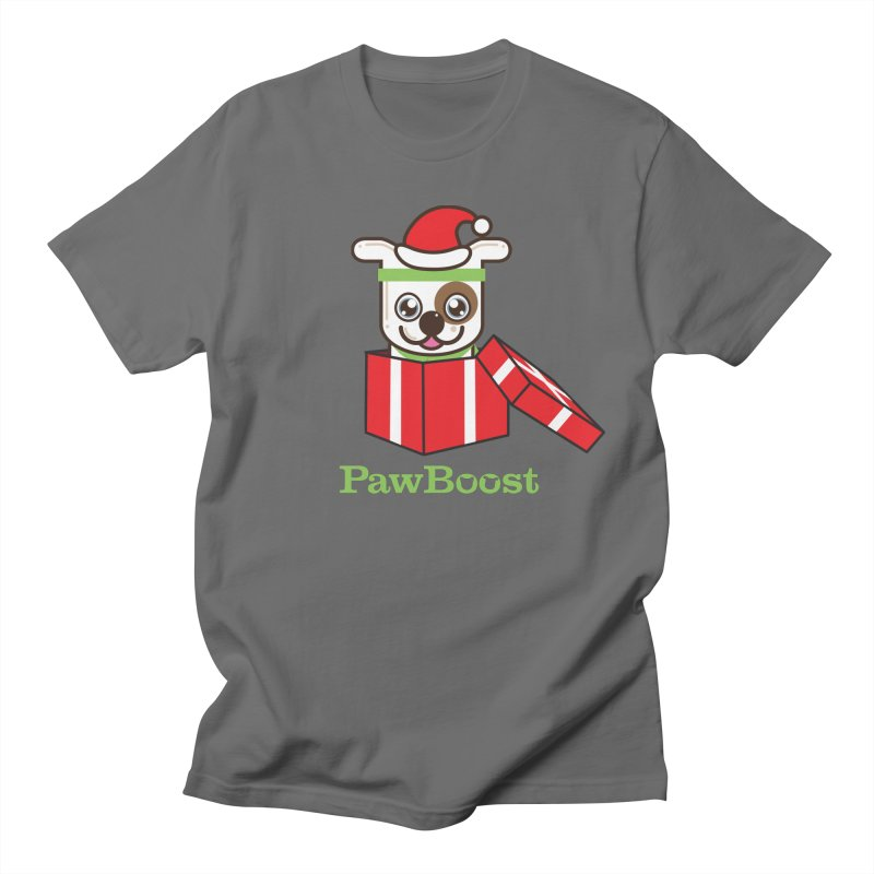 Happy Howlidays! (dog) Men's T-Shirt by PawBoost's Shop