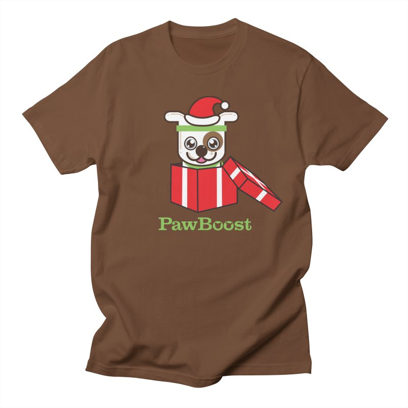 Happy Howlidays! (dog) Men's Regular T-Shirt by PawBoost's Shop