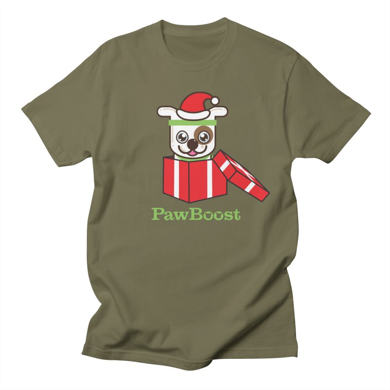 Happy Howlidays! (dog) Women's Regular Unisex T-Shirt by PawBoost's Shop