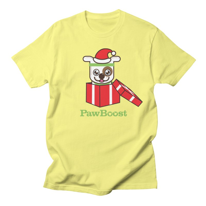Happy Howlidays! (dog) Women's Regular Unisex T-Shirt by PawBoost's Shop