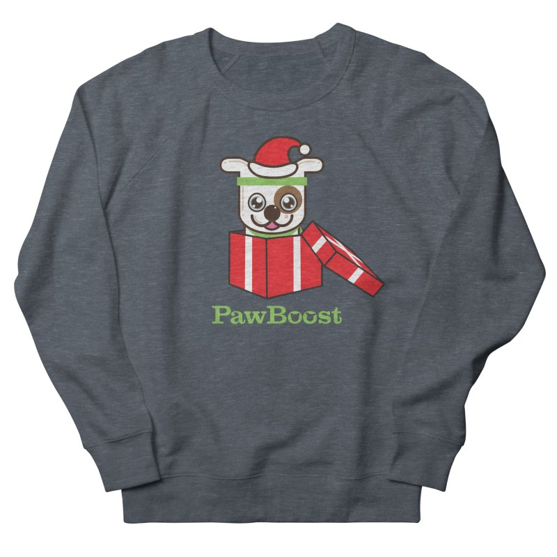 Happy Howlidays! (dog) Women's French Terry Sweatshirt by PawBoost's Shop