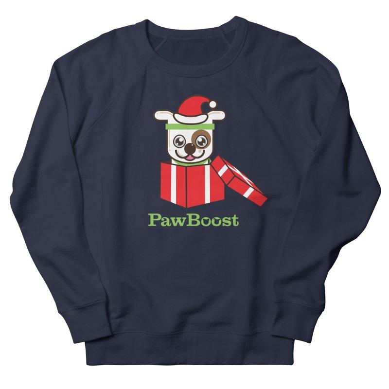 Happy Howlidays! (dog) Women's French Terry Sweatshirt by PawBoost's Shop