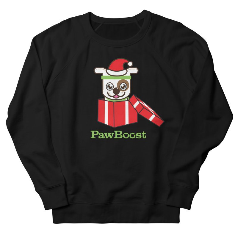 Happy Howlidays! (dog) Men's French Terry Sweatshirt by PawBoost's Shop