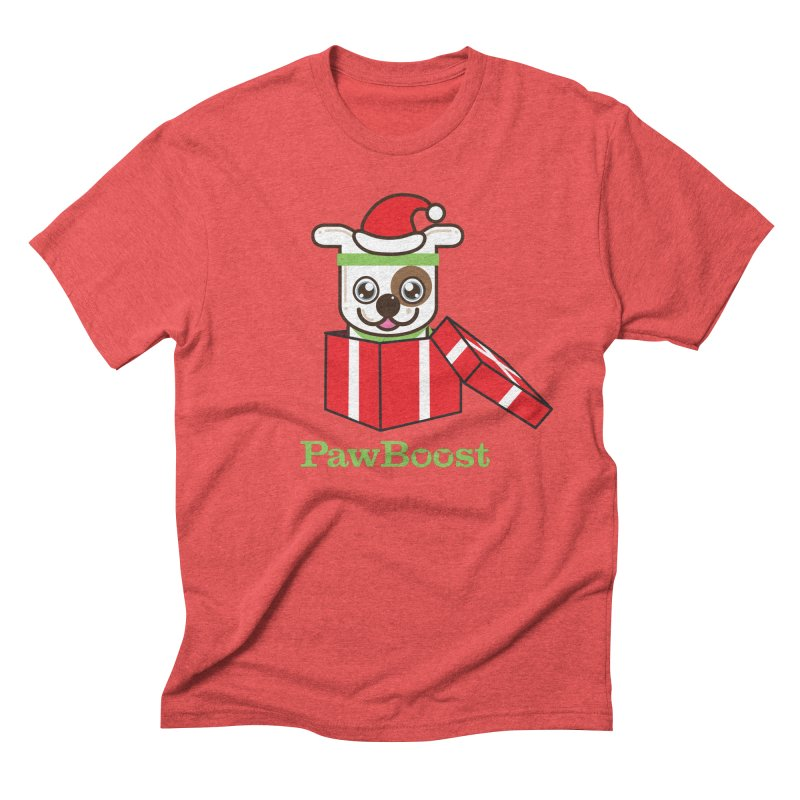Happy Howlidays! (dog) Men's Triblend T-Shirt by PawBoost's Shop