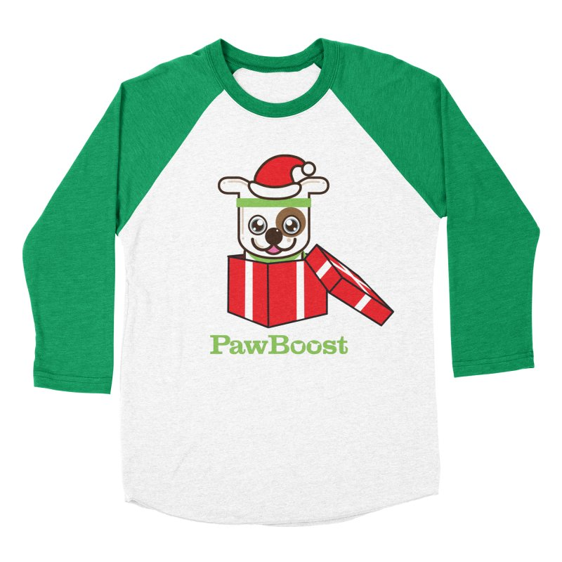 Happy Howlidays! (dog) Women's Baseball Triblend Longsleeve T-Shirt by PawBoost's Shop