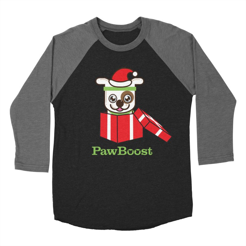 Happy Howlidays! (dog) Women's Baseball Triblend Longsleeve T-Shirt by PawBoost's Shop