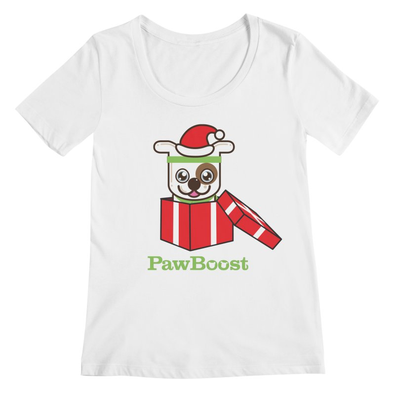 Happy Howlidays! (dog) Women's Regular Scoop Neck by PawBoost's Shop