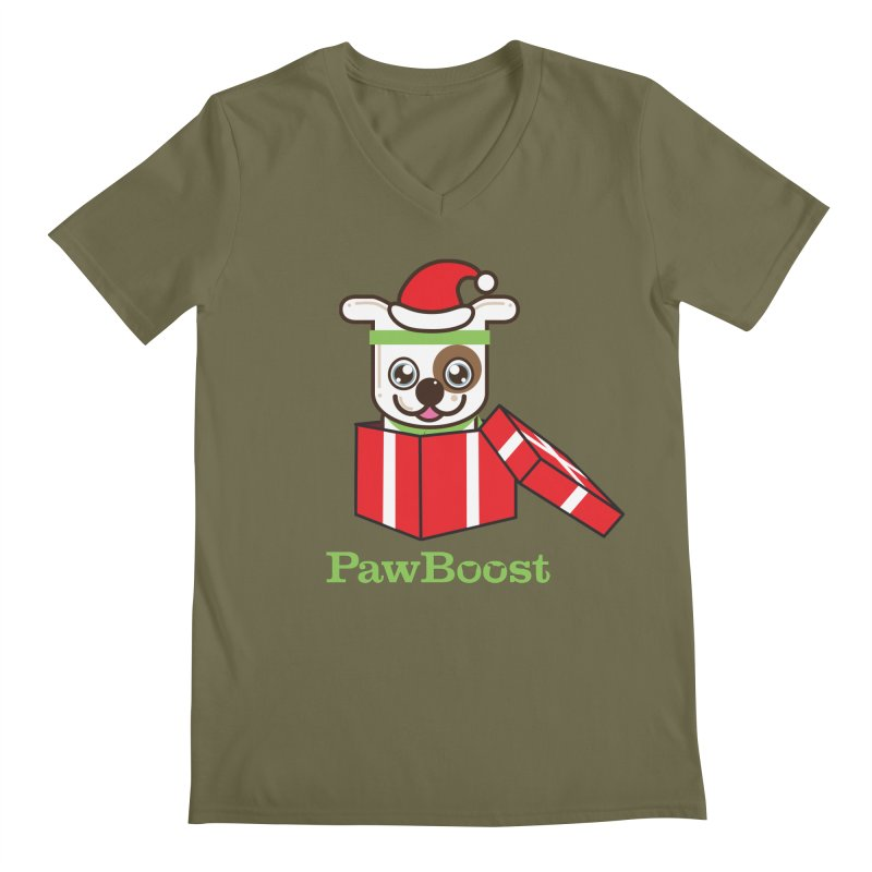 Happy Howlidays! (dog) Men's Regular V-Neck by PawBoost's Shop
