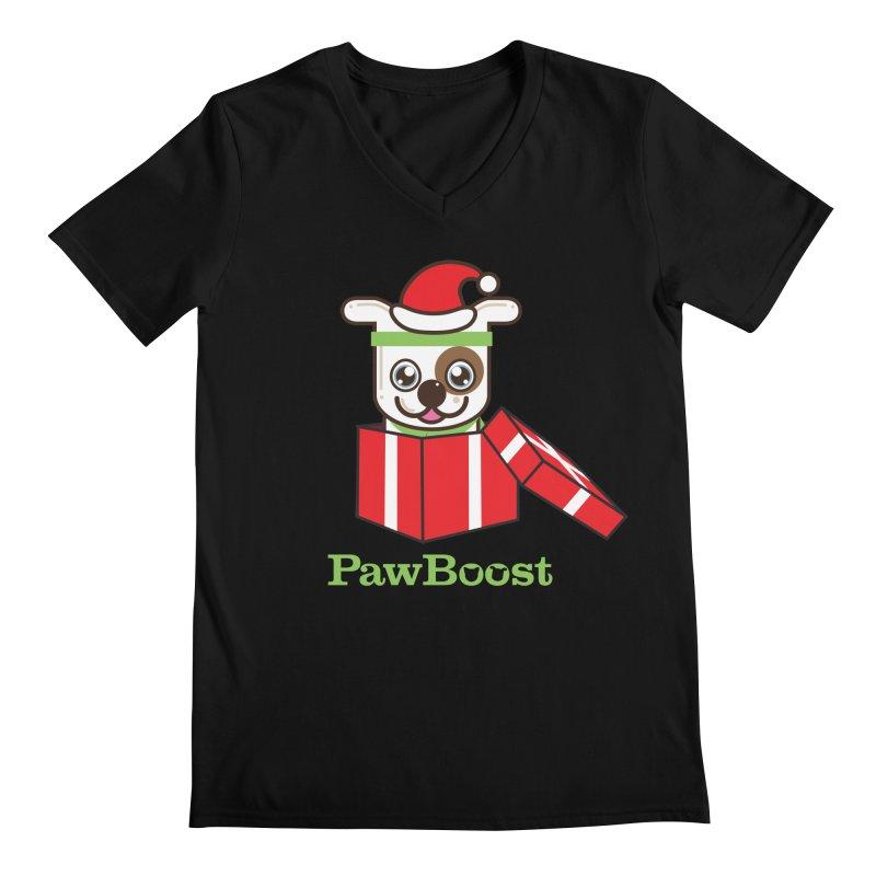 Happy Howlidays! (dog) Men's Regular V-Neck by PawBoost's Shop