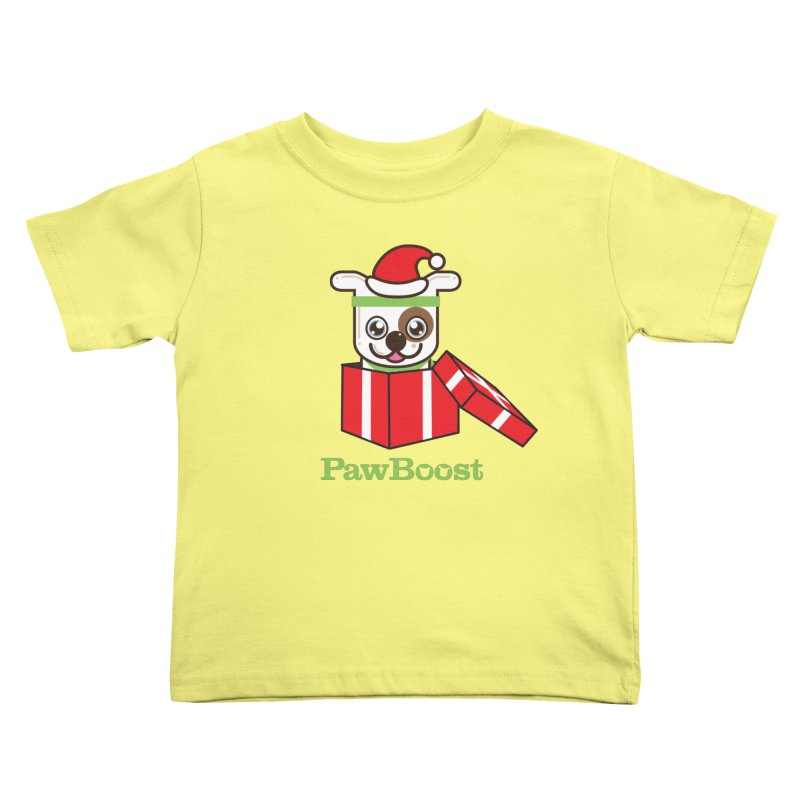 Happy Howlidays! (dog) Kids Toddler T-Shirt by PawBoost's Shop