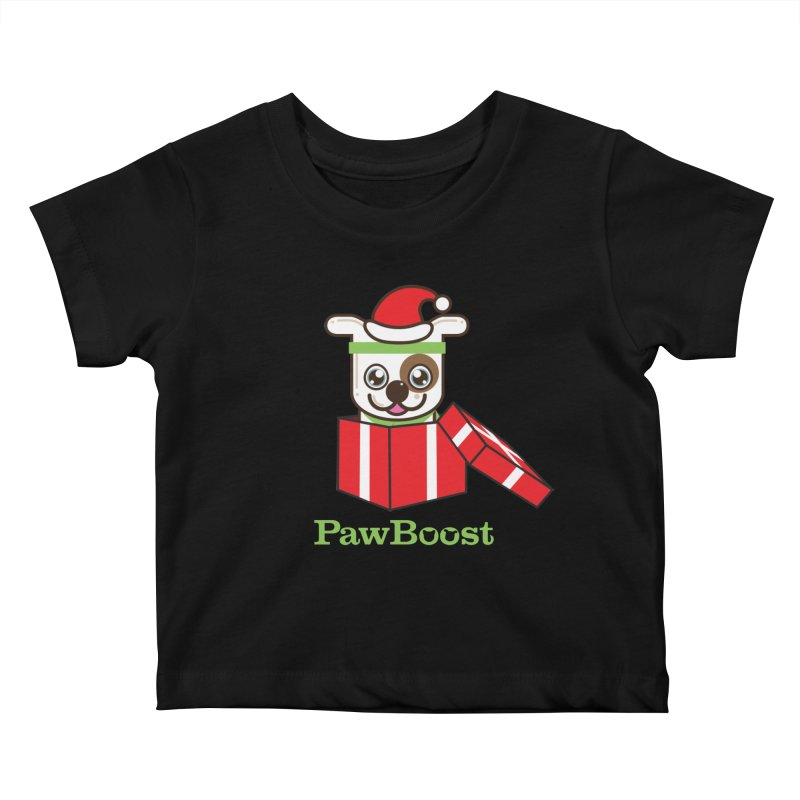 Happy Howlidays! (dog) Kids Baby T-Shirt by PawBoost's Shop