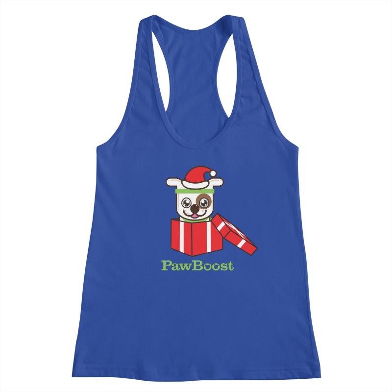 Happy Howlidays! (dog) Women's Racerback Tank by PawBoost's Shop