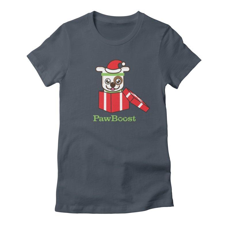 Happy Howlidays! (dog) Women's T-Shirt by PawBoost's Shop