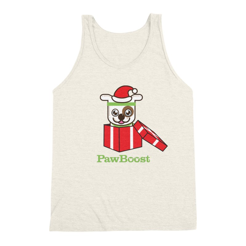 Happy Howlidays! (dog) Men's Triblend Tank by PawBoost's Shop