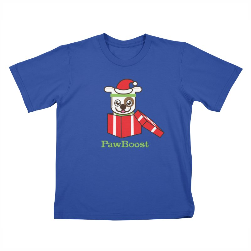 Happy Howlidays! (dog) Kids T-Shirt by PawBoost's Shop