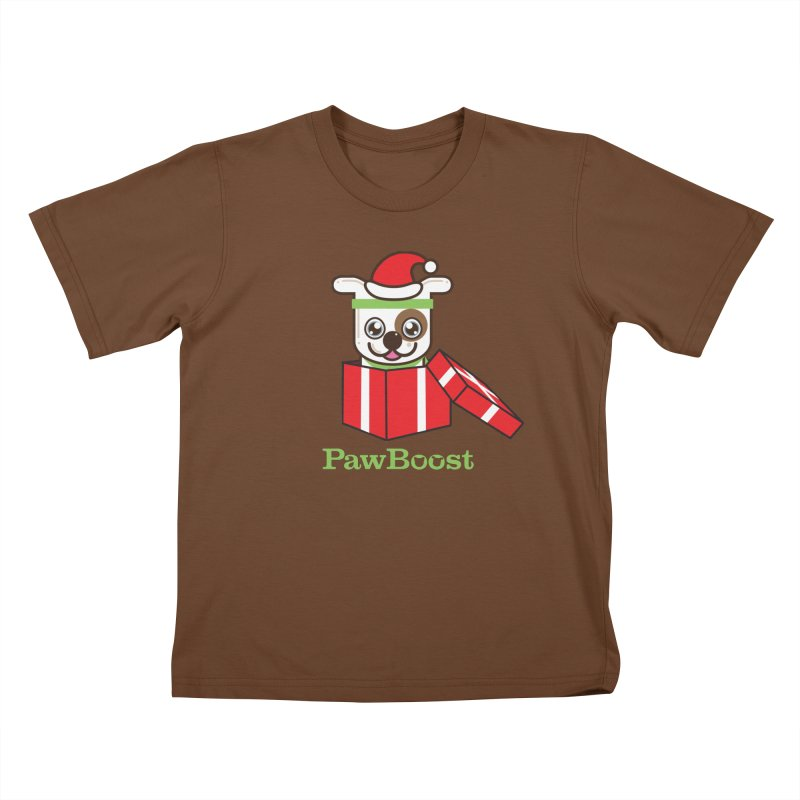 Happy Howlidays! (dog) Kids T-Shirt by PawBoost's Shop