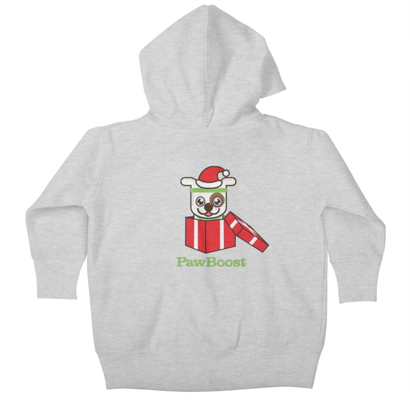 Happy Howlidays! (dog) Kids Baby Zip-Up Hoody by PawBoost's Shop