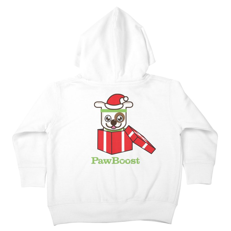Happy Howlidays! (dog) Kids Toddler Zip-Up Hoody by PawBoost's Shop