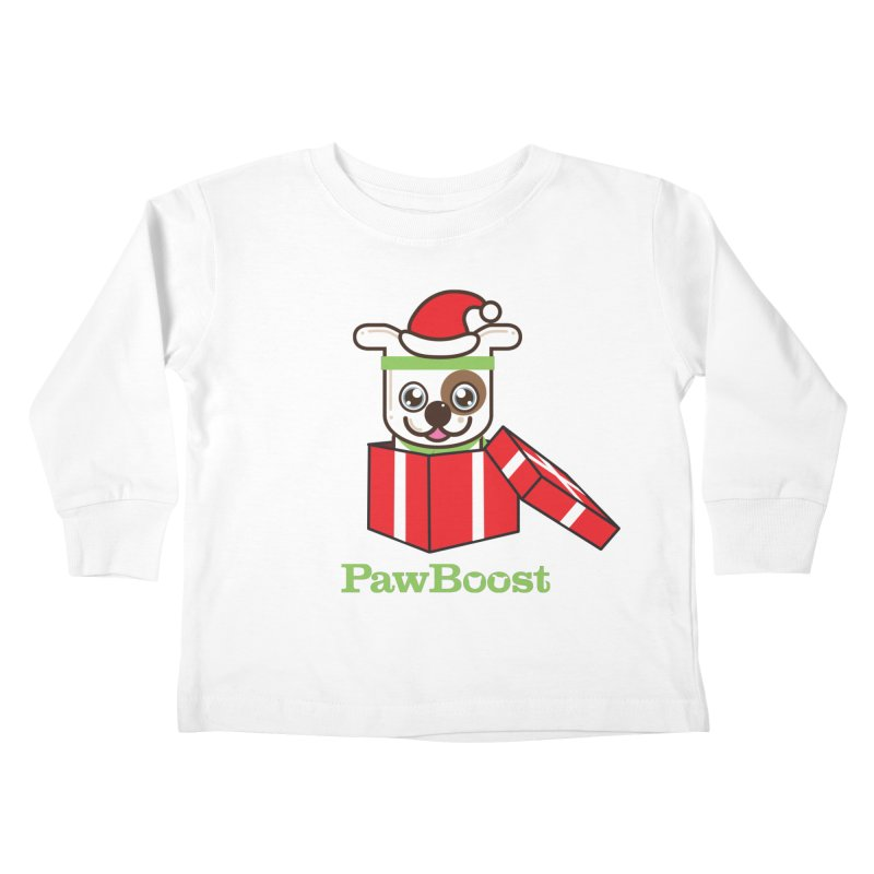 Happy Howlidays! (dog) Kids Toddler Longsleeve T-Shirt by PawBoost's Shop