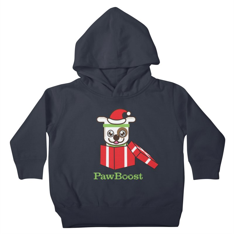 Happy Howlidays! (dog) Kids Toddler Pullover Hoody by PawBoost's Shop