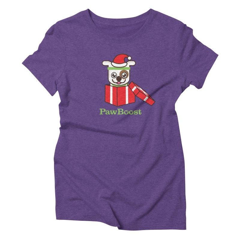 Happy Howlidays! (dog) Women's Triblend T-Shirt by PawBoost's Shop