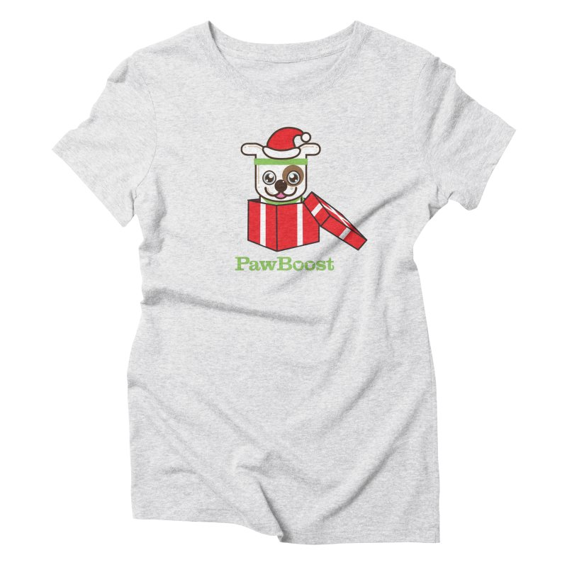 Happy Howlidays! (dog) Women's Triblend T-Shirt by PawBoost's Shop