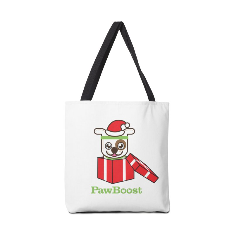 Happy Howlidays! (dog) Accessories Tote Bag Bag by PawBoost's Shop